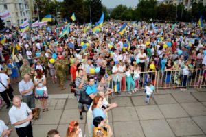 На 25-у річницю Незалежності України у Краматорську пройшла низка заходів