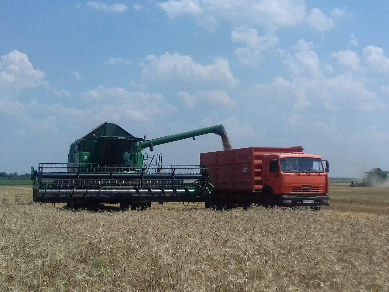 Великоновосілківському районі зібрано 82% ранніх зернових до плану