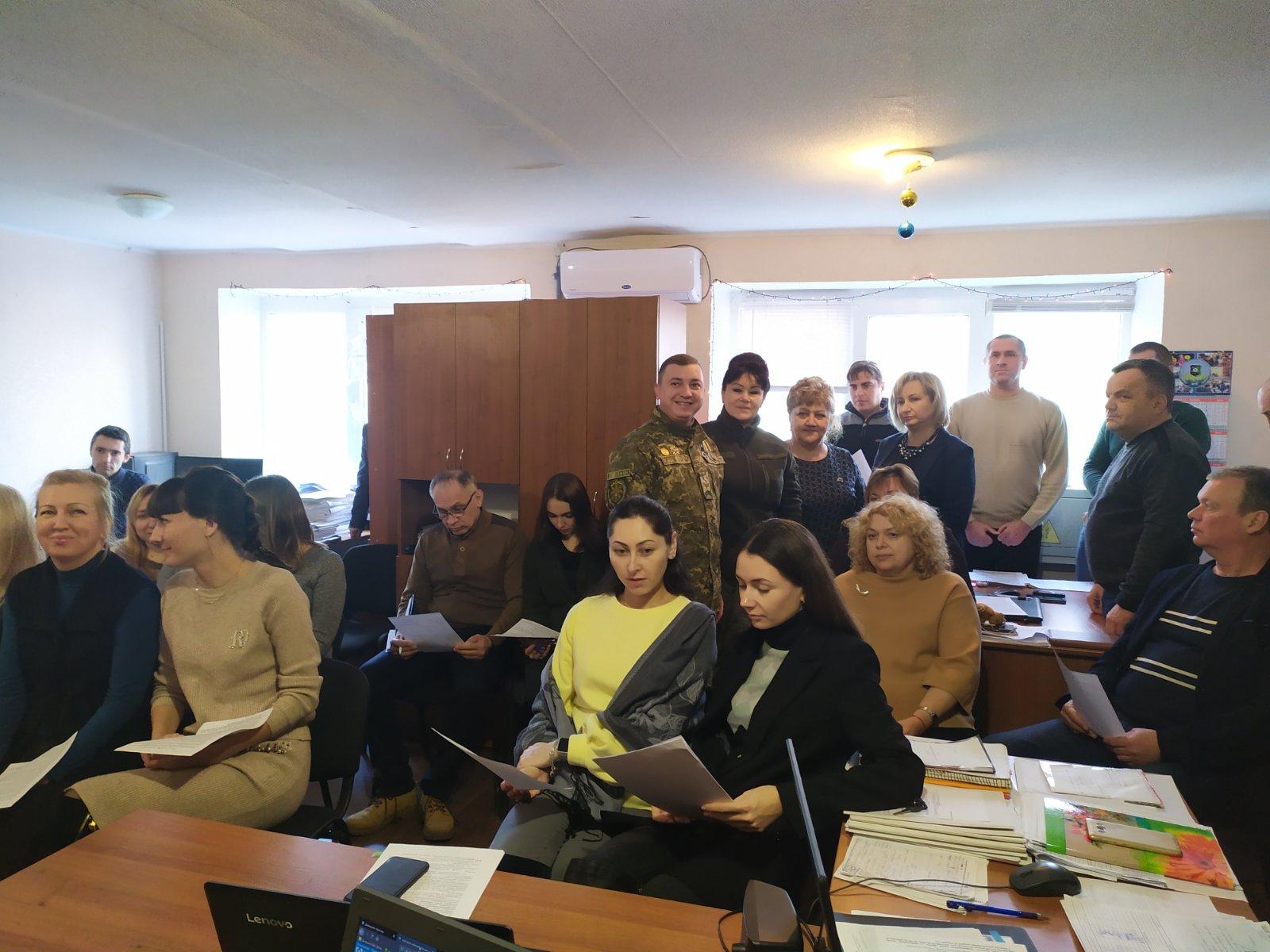 Проведено навчання зі службовцями та працівниками департаменту щодо дій та особливостей взаємодії під час введення режиму «ЖОВТИЙ» в районі операцій об'єднаних сил