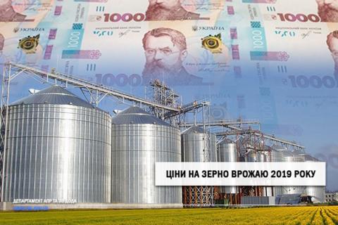 Ціни на зерно врожаю 2019 року станом на 19.06.2020