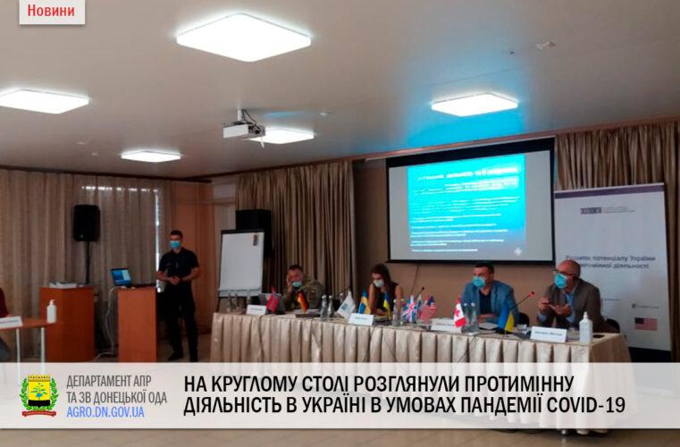 На круглому столі розглянули протимінну діяльність в Україні в умовах пандемії COVID-19