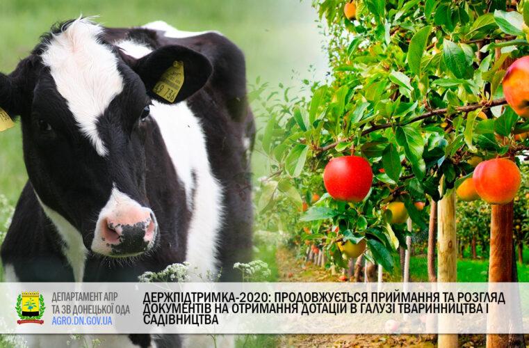 Держпідтримка-2020: Продовжується приймання та розгляд документів на отримання дотацій в галузі тваринництва і садівництва