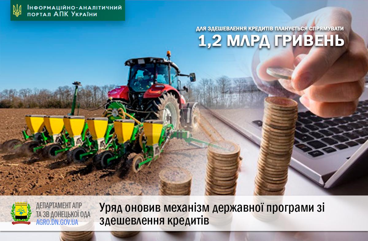 Уряд оновив механізм державної програми зі здешевлення кредитів