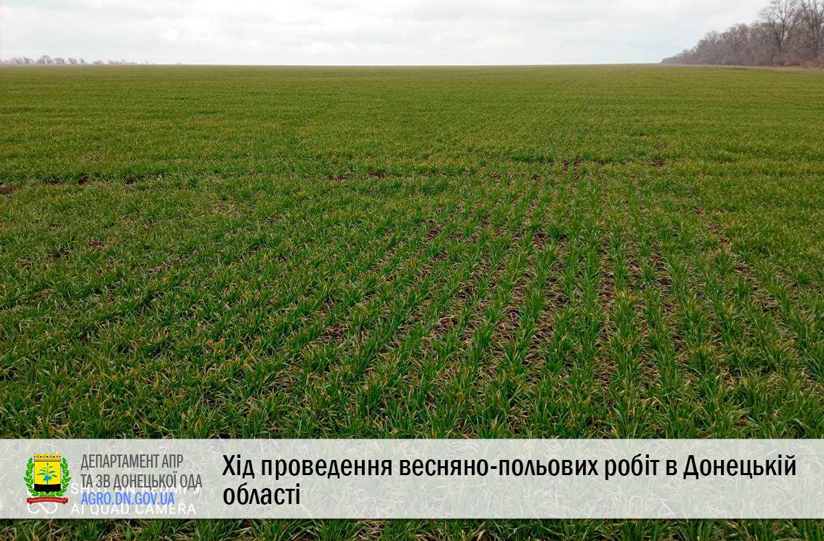 Хід проведення весняно-польових робіт в Донецькій області