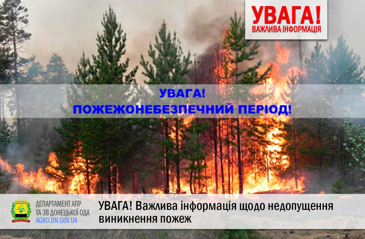 УВАГА! Важлива інформація щодо недопущення виникнення пожеж