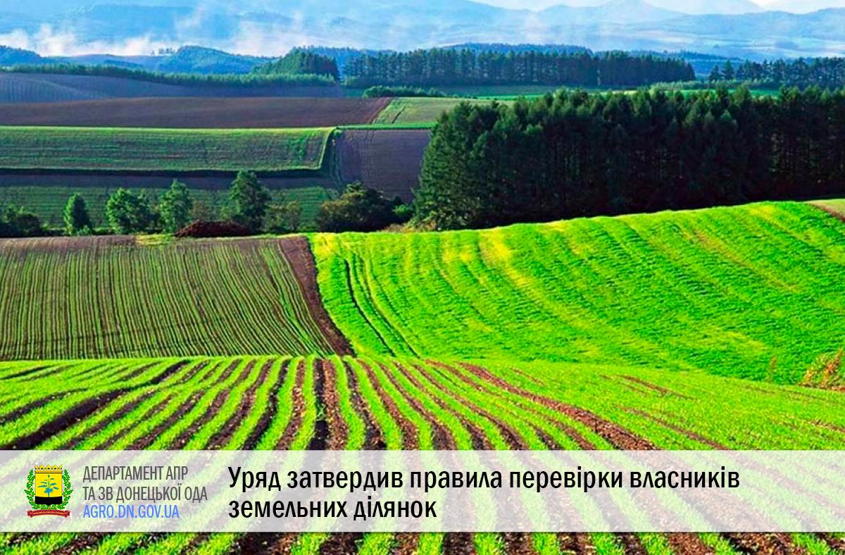 Уряд затвердив правила перевірки власників земельних ділянок