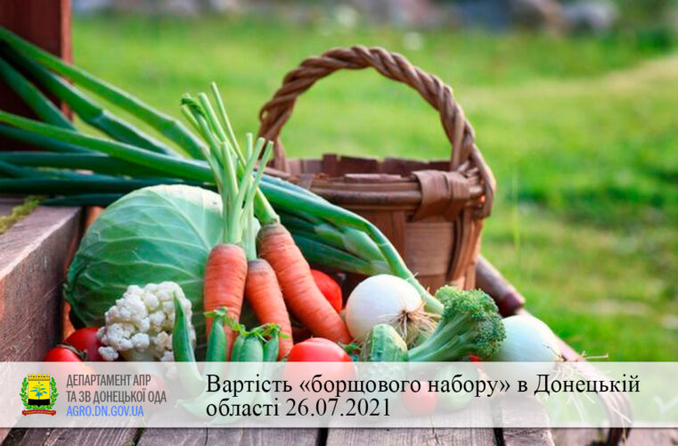 Вартість «борщового набору» в Донецькій області 26.07.2021