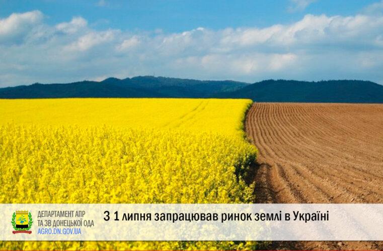 З 1 липня запрацював ринок землі в Україні