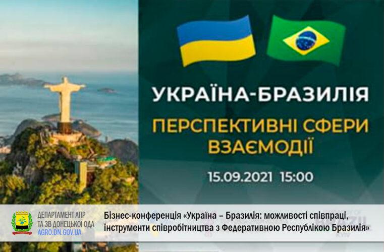 15.09 відбудеться бізнес-конференція «Україна – Бразилія: можливості співпраці, інструменти співробітництва з Федеративною Республікою Бразилія»