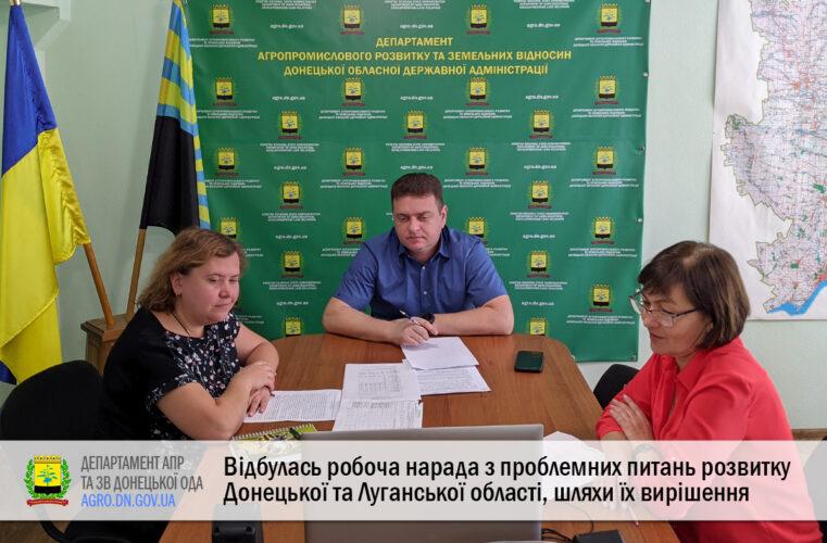 Відбулась робоча нарада з проблемних питань розвитку Донецької та Луганської області, шляхи їх вирішення