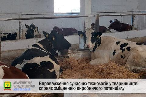 Впровадження сучасних технологій у тваринництві сприяє зміцненню виробничого потенціалу